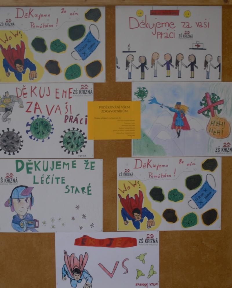 Žáci  ZŠ Křižná poděkovali zdravotníkům
